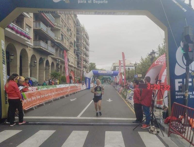 Maxi y Chema Abad en el Maratón de Logroño